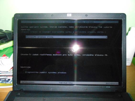 Správce spuštění Windows Vista