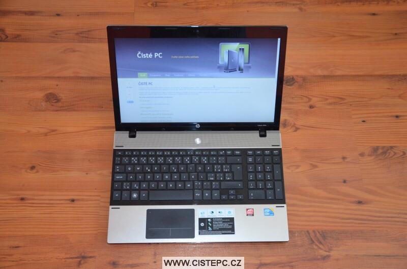 Jak vyčistit notebook HP 4520s