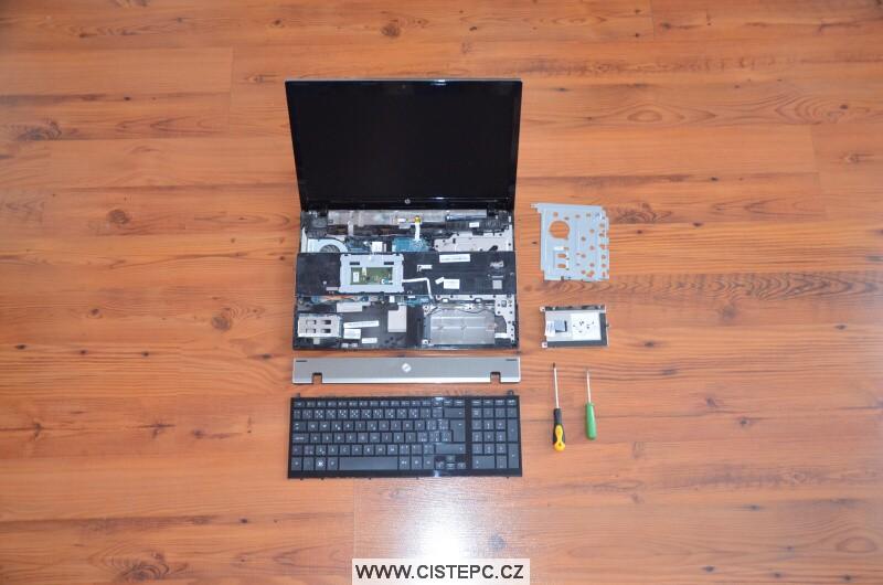 Jak vyčistit notebook HP 4520s 2