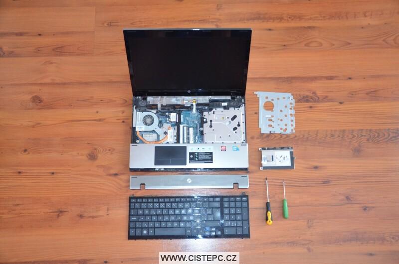 Jak vyčistit notebook HP 4520s 3