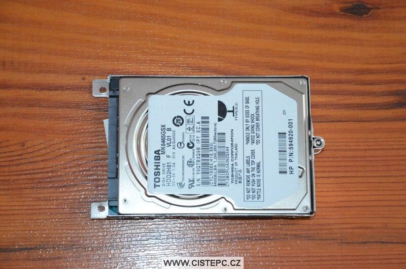 Jak vyčistit notebook HP 4520s 8