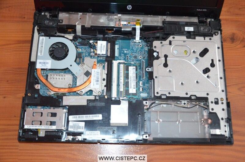 Jak vyčistit notebook HP 4520s 10
