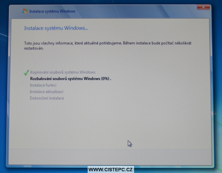 windows 7 instalace 10