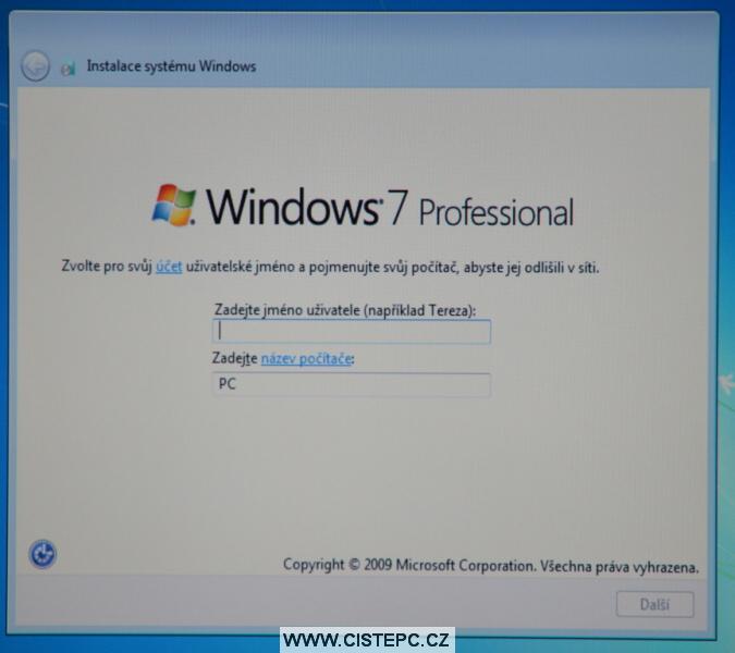 windows 7 instalace 12