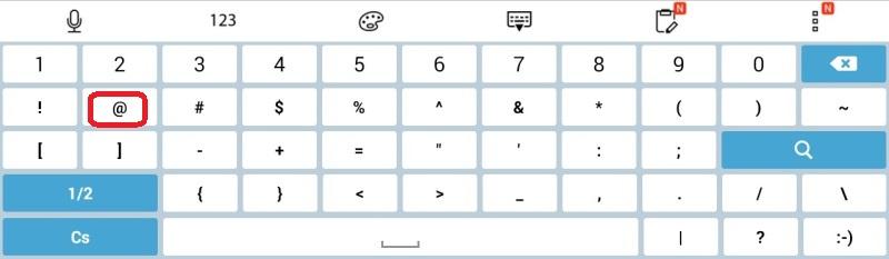 jak napsat zavináč na tabletu 2