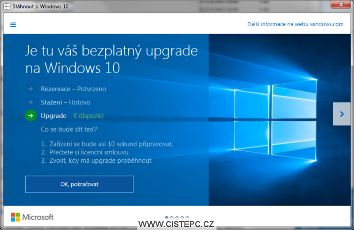 Bezplatný upgrade na Windows 10