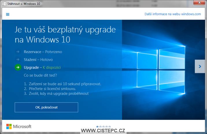 upgrade na windows 10 zdarma je připraven 2