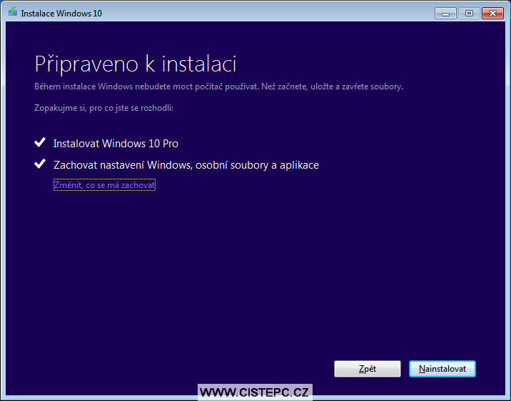 windows 10 instalace