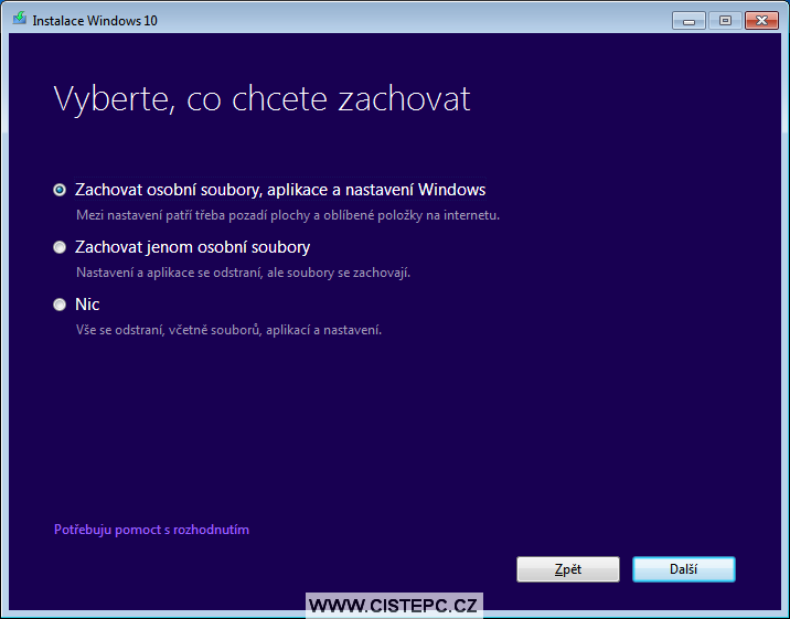 windows 10 instalace 2