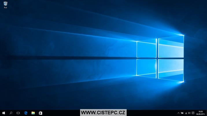 windows 10 úvodní obrazovka