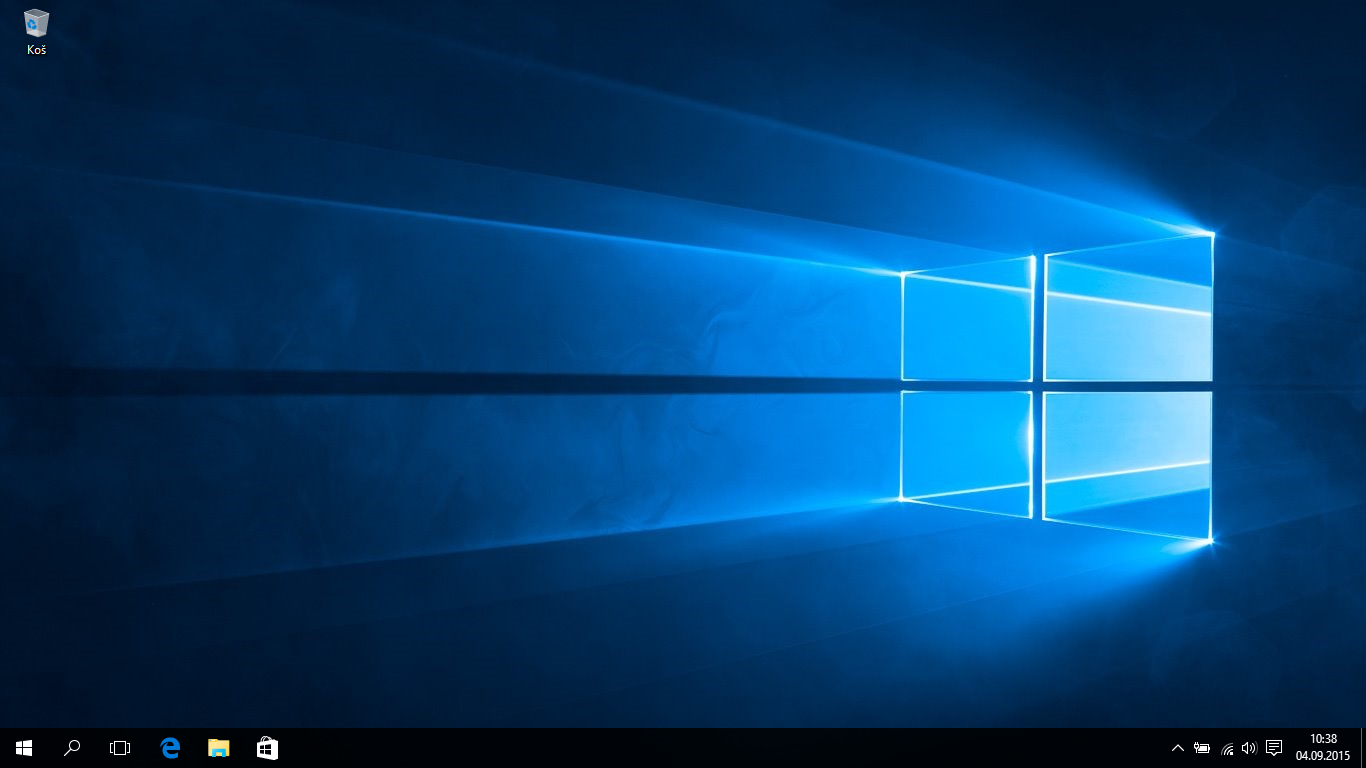 windows 10 uvodni obrazovka