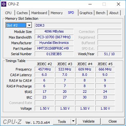 cpu z 6 memory spd slot 2