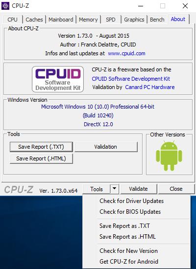 cpu-z 9 tools