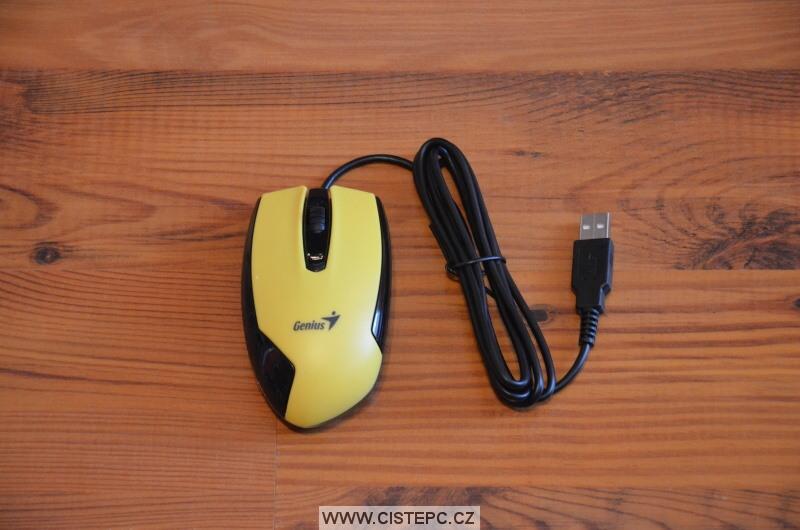počitačová myš genius žlutá