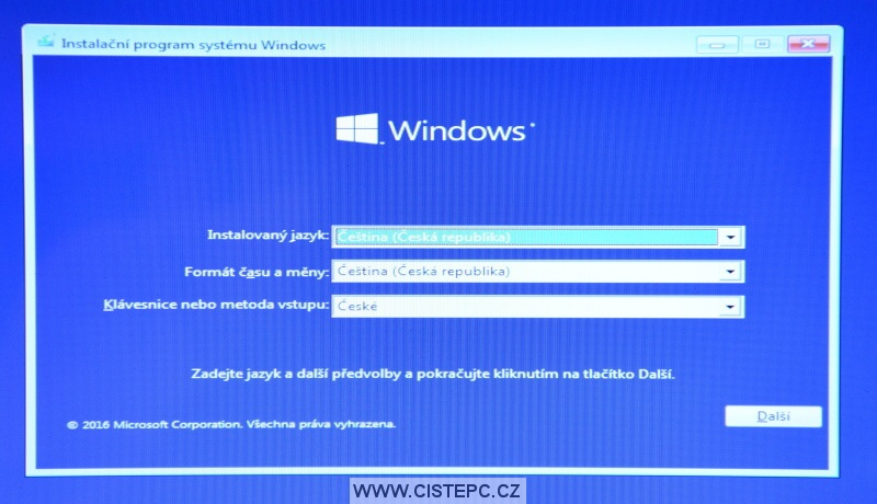 Windows 10 čistá instalace 04