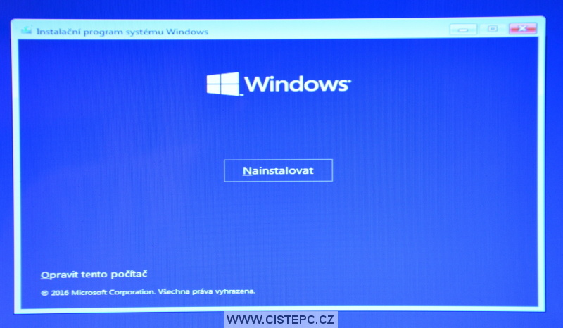 Windows 10 čistá instalace 05