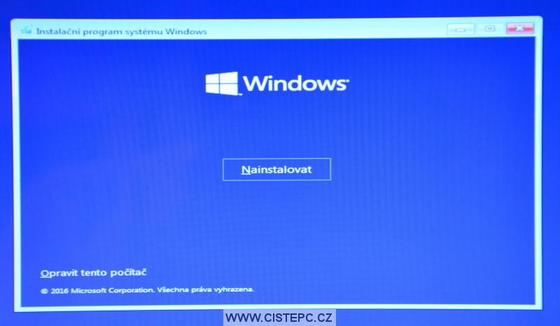 Windows 10 čistá instalace 05