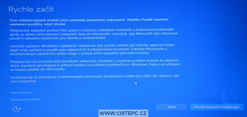 Windows 10 čistá instalace 16