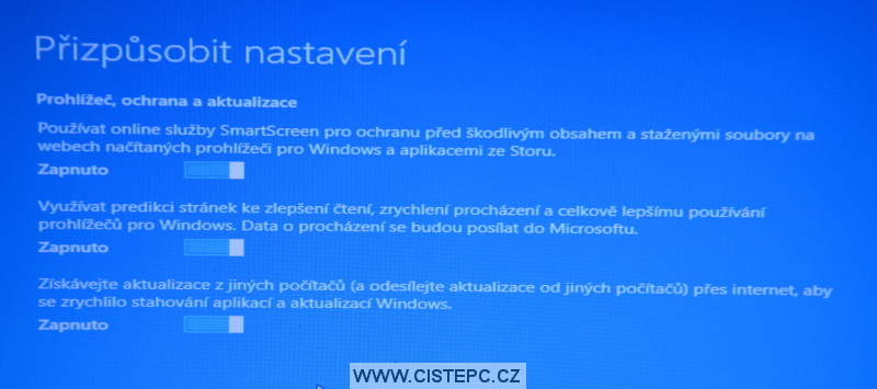 Windows 10 čistá instalace 18