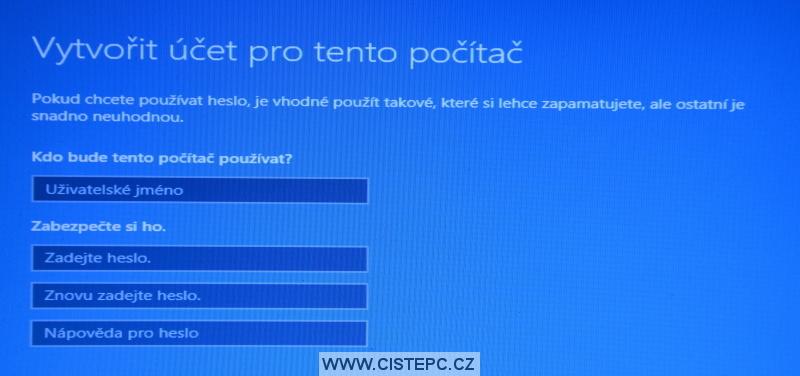Windows 10 čistá instalace 19