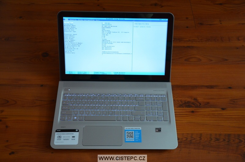 hp envy notebook 7