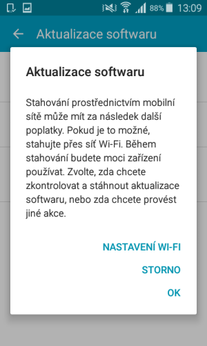 aktualizace android samsung mobil 5