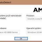 Ovladač Amd přestal pracovat ve Win10