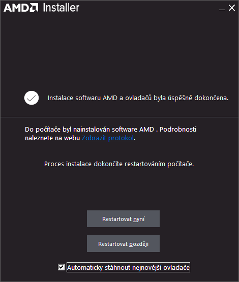 amd ovladač grafické karty ati driver 9