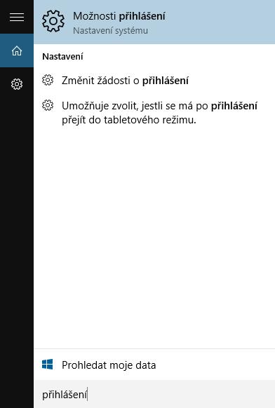 Vypnutí hesla windows 10