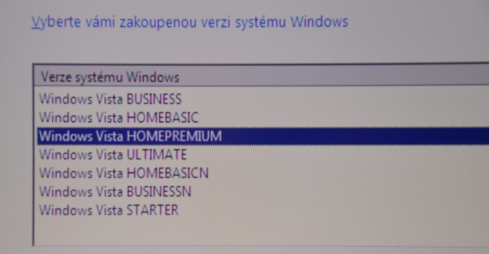 windows vista instalace 10