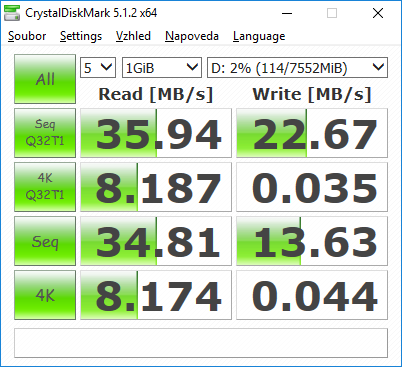 usb flash benchmark crystaldisk