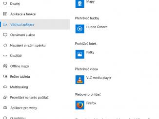 Výchozí aplikace ve Windows 10 3