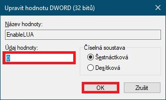 Editor registru řízení uživatelských účtů Windows 10 - 2