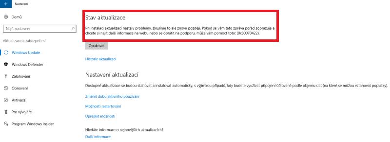 windows10 aktualizace 6