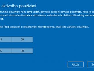windows 10 čas aktualizací