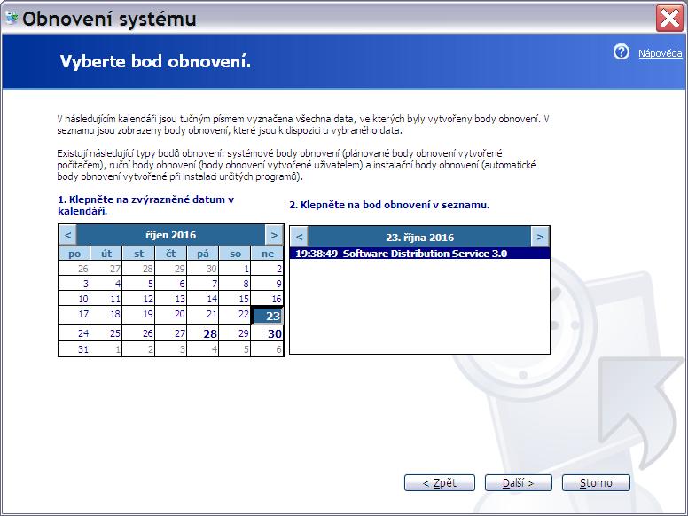 obnovení systému Windows XP 4