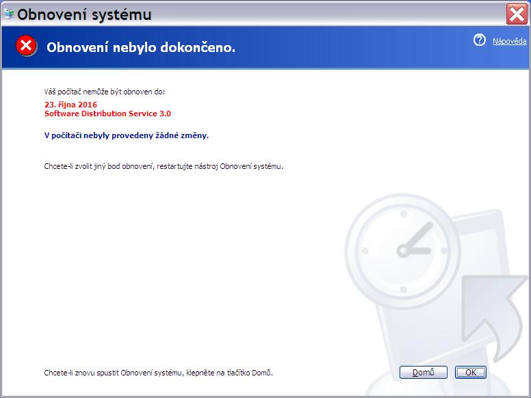 obnovení systému Windows XP 6