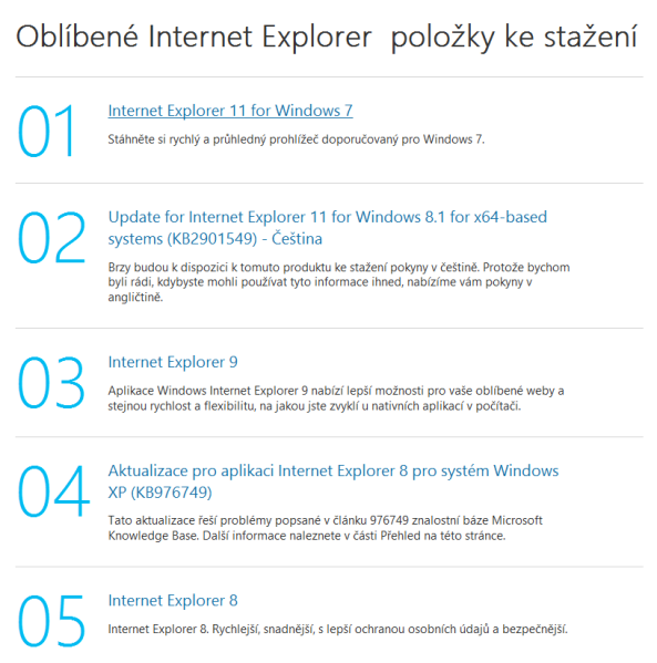 internet explorer 11 aktualizace windows7 2