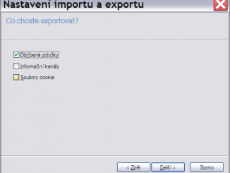 Oblíbené položky export 3