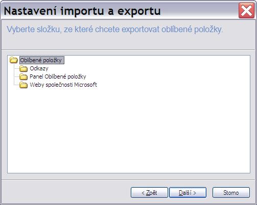 Oblíbené položky export 4