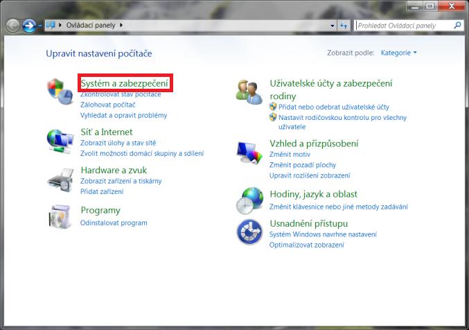 Obnovení systému Windows 7