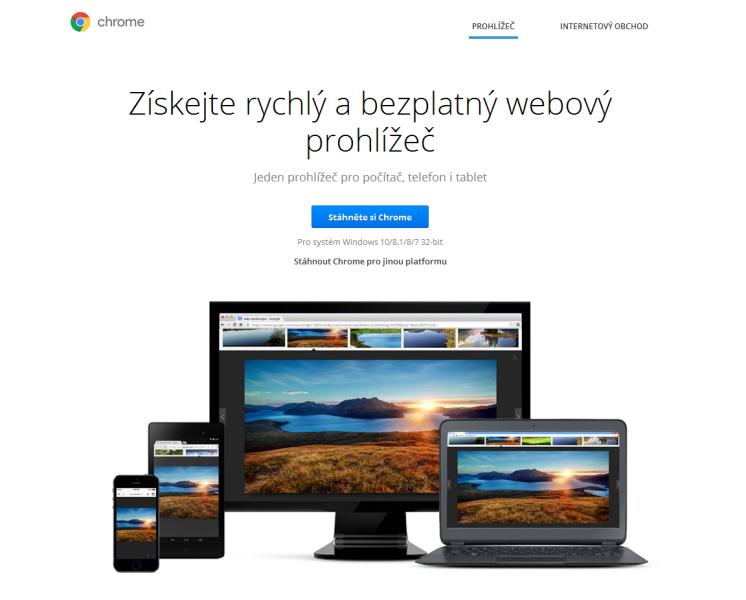 Google Chrome prohlížeč 1
