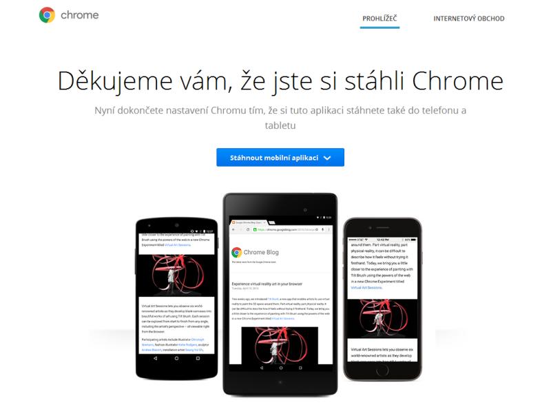 Google Chrome prohlížeč 4