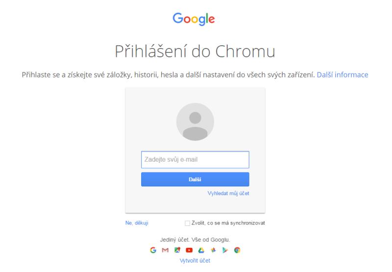 Google Chrome prohlížeč 7