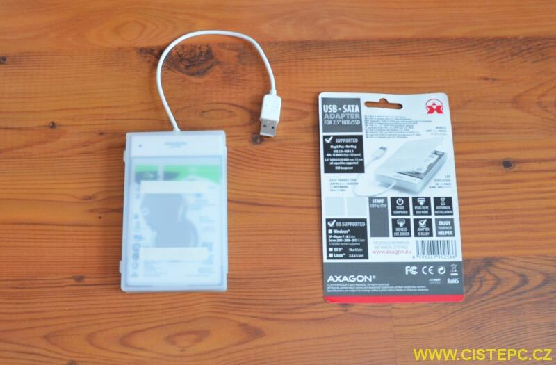 Externí box Axagon ADSA-1S slimport na harddisk