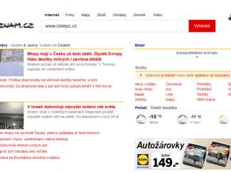 seznam.cz homepage