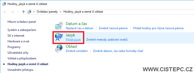Windows 10 čeština 3