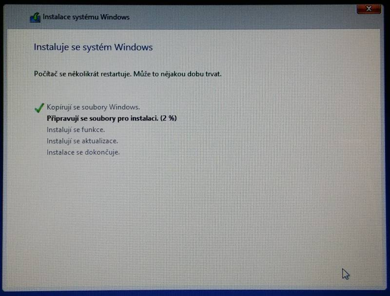 windows 8 instalace 10