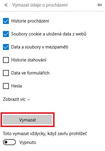 Microsoft Edge - historie prohlížení 2