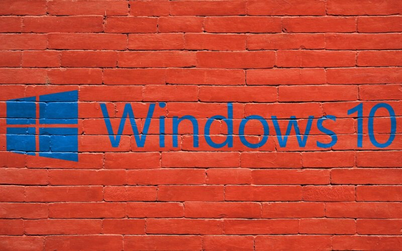 windows 10 zeď